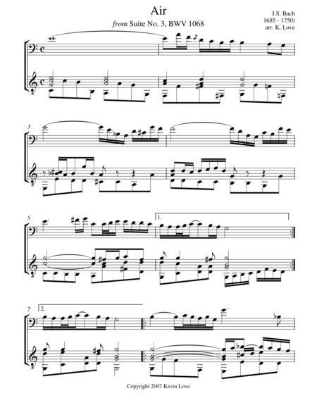 Air (Cello and Guitar) - Score and Parts