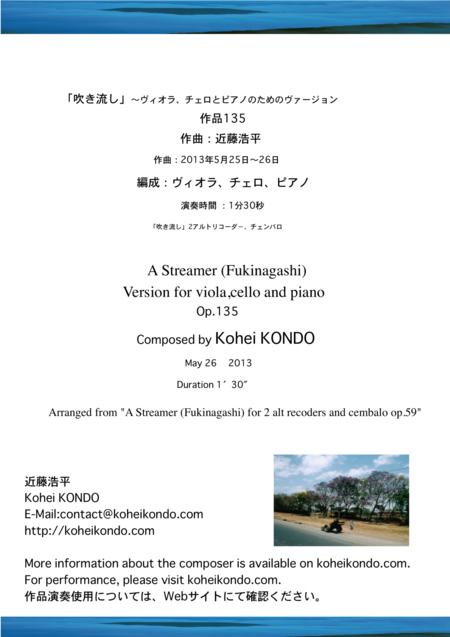 A Streamer (Fukinagashi)  Version for viola,cello and piano Op.135