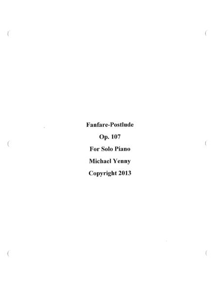 Fanfare-Postlude, op. 107