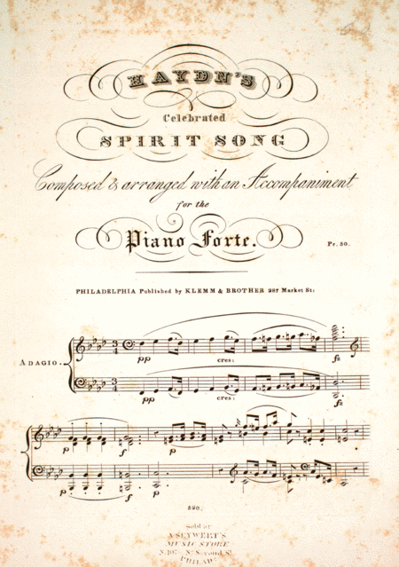 Haydn's Celebrated Spirit Song