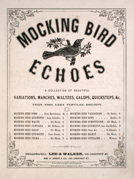 Mocking Bird Echoes: Listen to the Mocking Bird