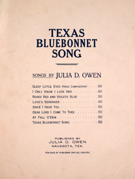 Texas Bluebonnet Song (A Spring rondel for unison or two-part chorus)