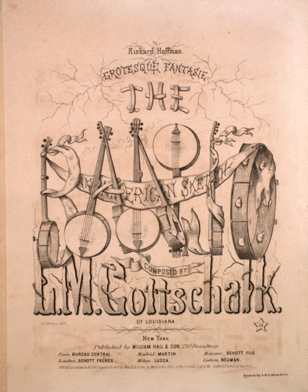 The Banjo. An American Sketch. Grotesque Fantasy