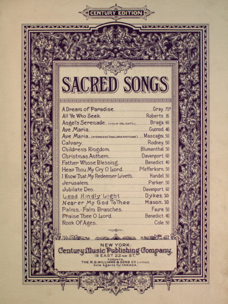 Lead Kindly Light. Sacred Songs