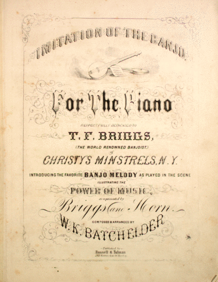 Imitation of the Banjo, for the Piano