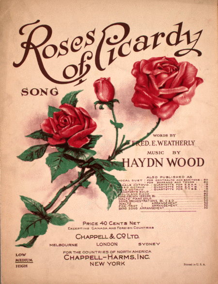 Roses of Picardy. Song