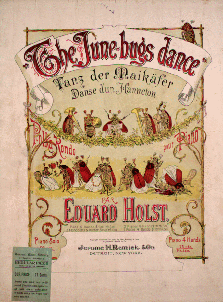 The June-bugs Dance. Tanz der Maikafer. Danse d'un Hanneton. Polka Rondo pour Piano