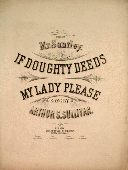 If Doughty Deeds My Lady Please. Song