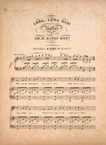 Long, Long Ago. Ballad