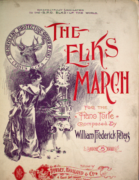 The Elks March for the Piano Forte