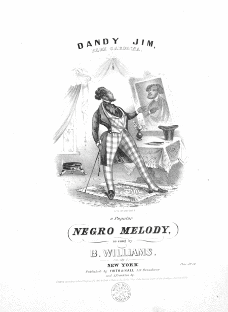 Dandy Jim, From Carolina. a Popular Negro Melody
