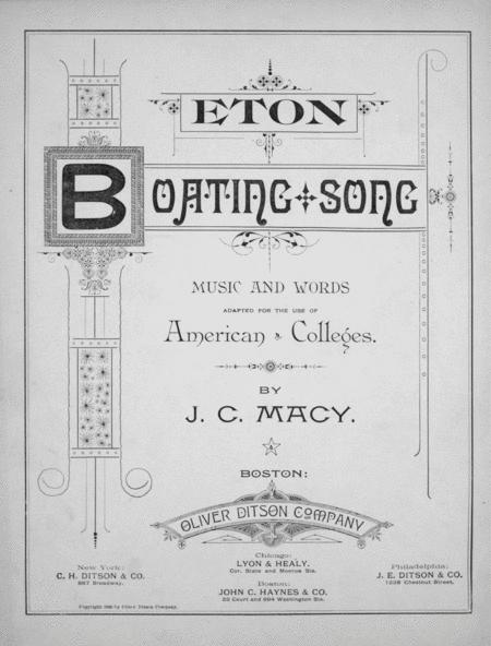 Eton Boating Song