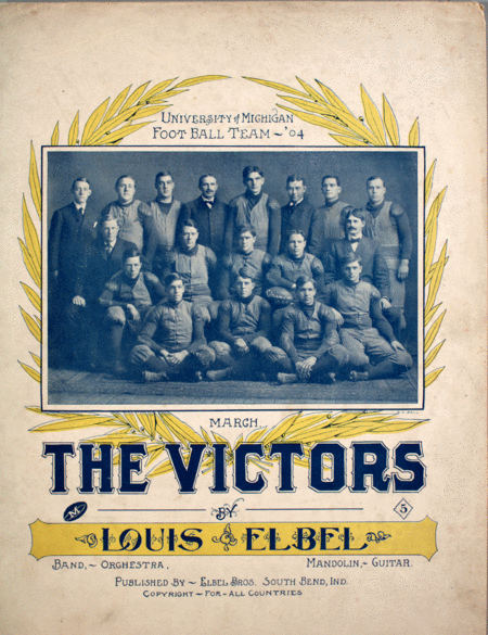 (1) March. The Victors. Back cover (2) song