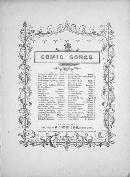 Comic Songs. Mr. and Mrs. Jones (Duett)