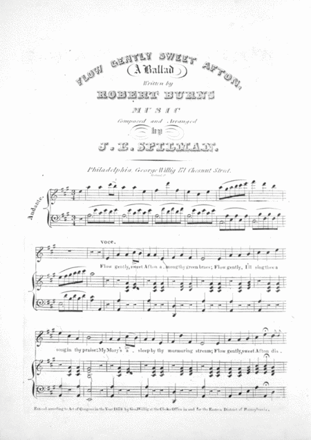 Flow Gently Sweet Afton. A Ballad