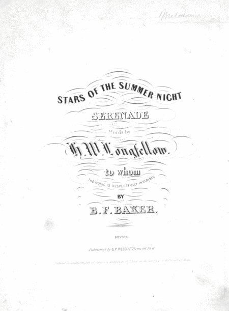 Stars of the Summer Night. Serenade