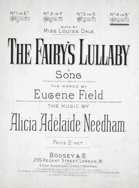 The Fairy's Lullaby. Song