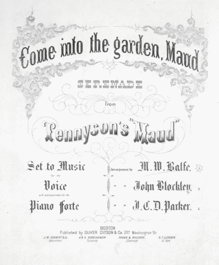 Download Come Into The Garden Maud Serenade From