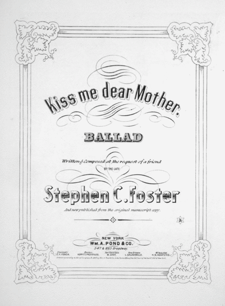 Kiss Me Dear Mother. Ballad