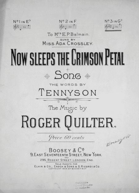 Now Sleeps the Crimson Petal. Song