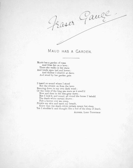 Maud Has a Garden