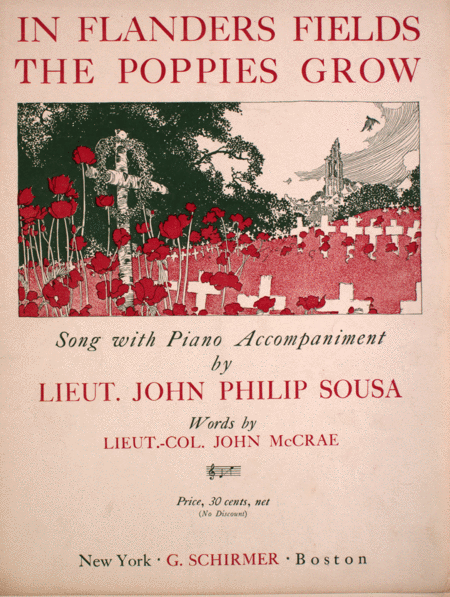 In Flanders Fields The Poppies Grow. Song With Piano Accompaniment