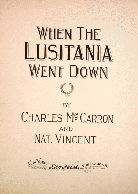 When the Lusitania Went Down