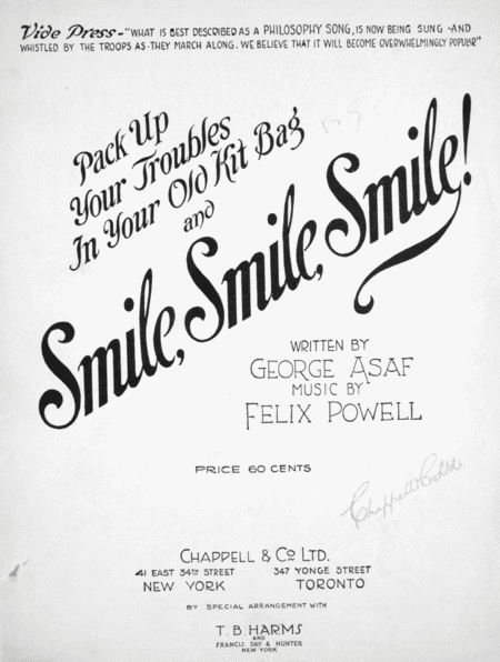 (Pack Up Your Troubles in Your Old Kit Bag) and Smile, Smile, Smile
