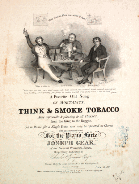 Think and Smoke Tobacco. A Favorite Old Song on Mortality