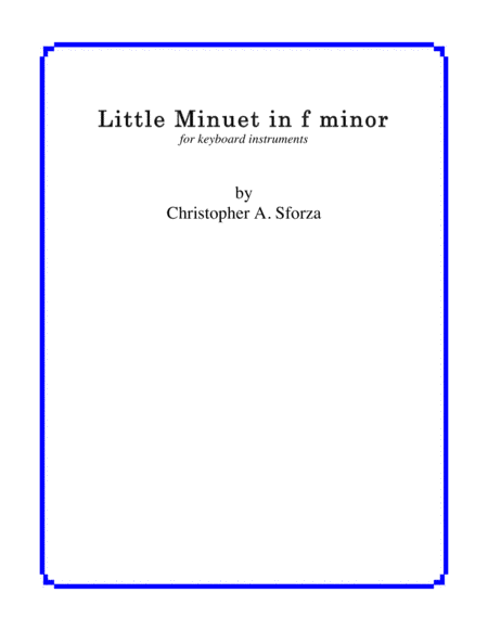 Little Minuet in f minor