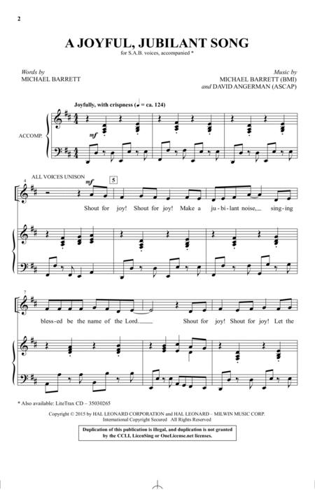 A Joyful, Jubilant Song