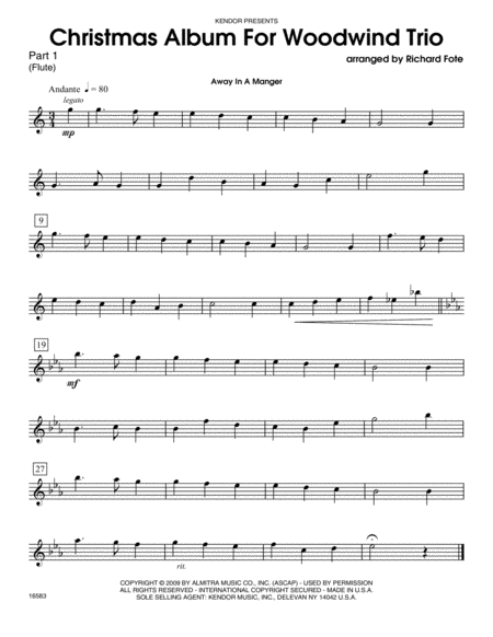 Christmas Album For Woodwind Trio - Part 1