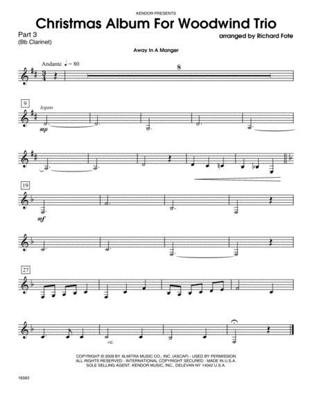 Christmas Album For Woodwind Trio - Part 3