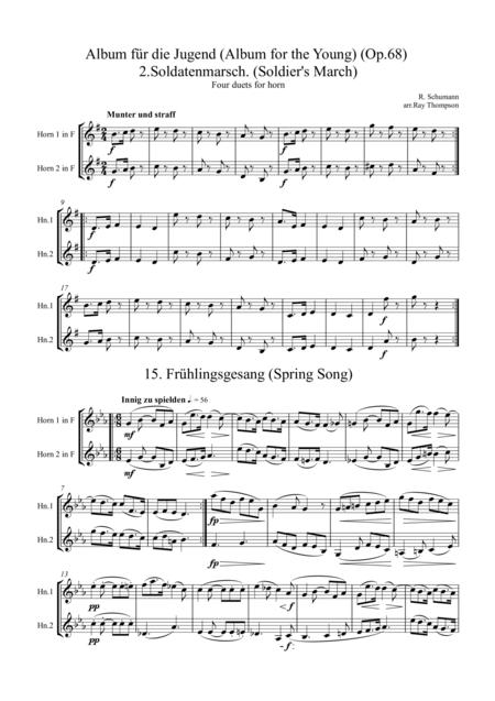 Schumann: Album für die Jugend (Album for the Young) (Op.68) Four pieces for horn duet