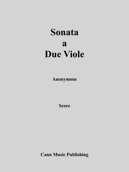 Duet for Two Violas