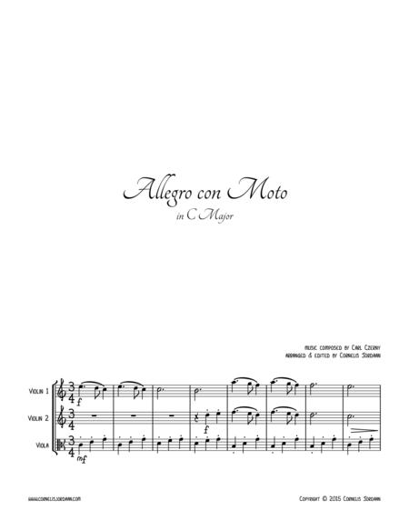 Allegro con Moto, for 2 violins & viola