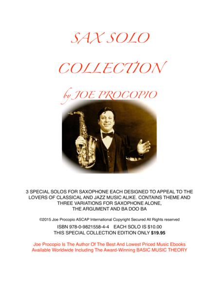 SAX SOLO COLLECTION By Joe Procopio