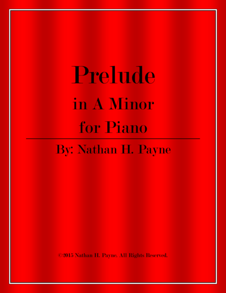 Prelude in A minor for Piano