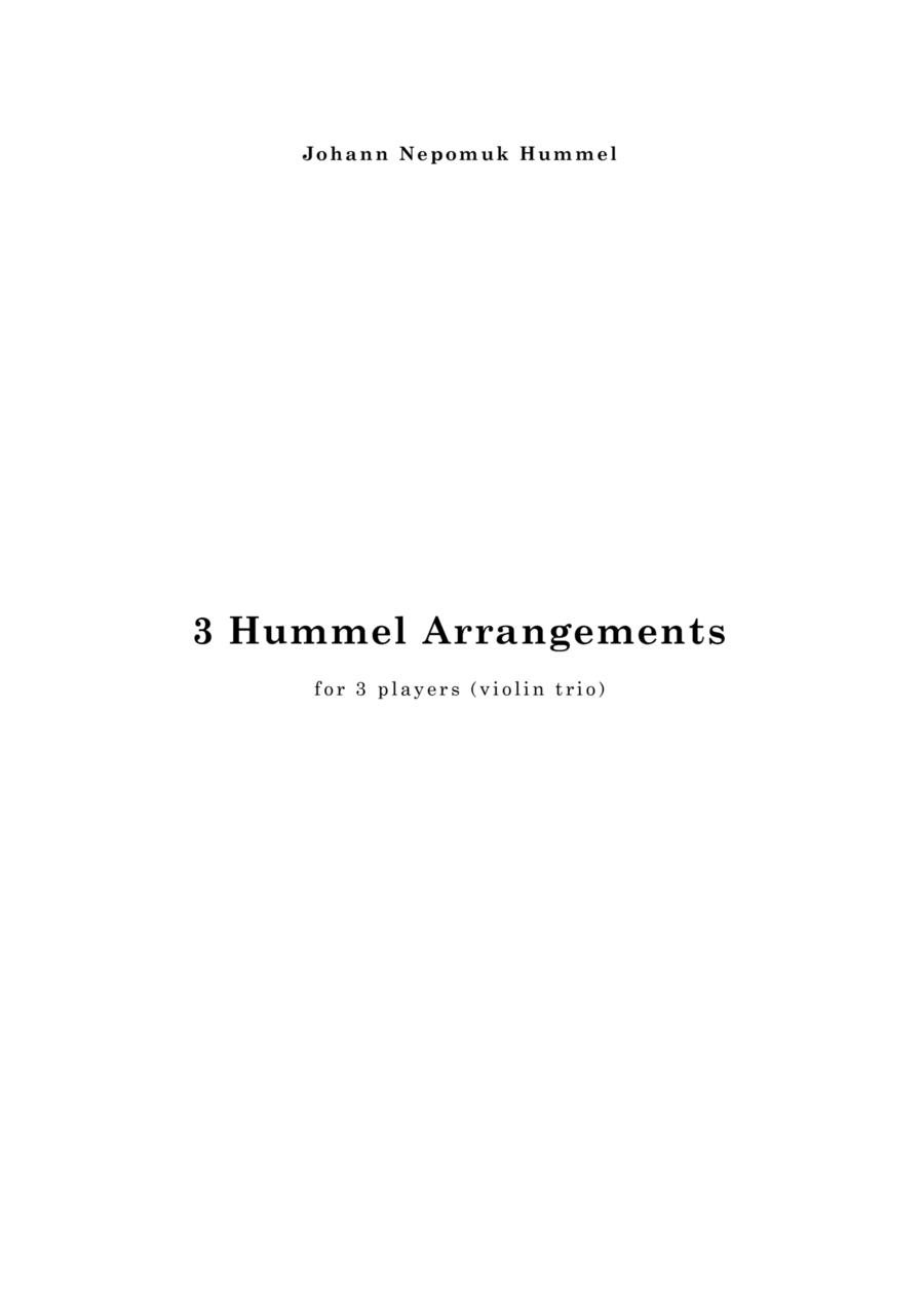 Three Hummel Arrangements for violin trio
