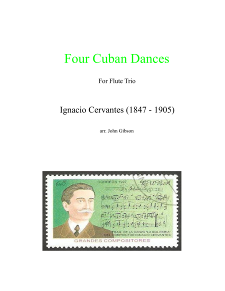 4 Cuban Dances by Cervantes for flute trio