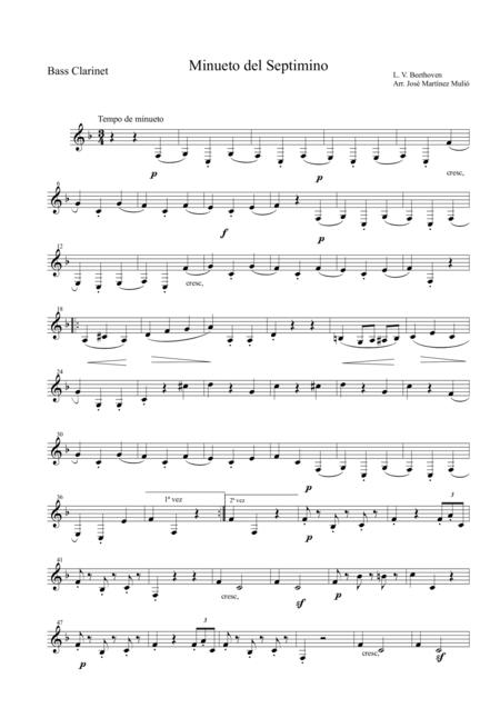 Minuet of Septet in E flat major Op. 20. Ludwig Van Beethoven.