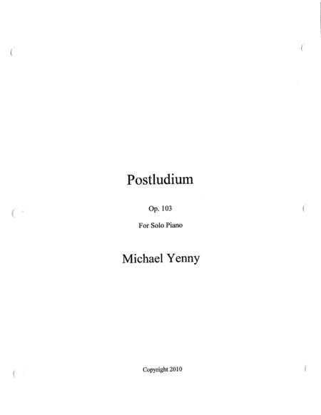 Postludium in B-flat Major, op. 103