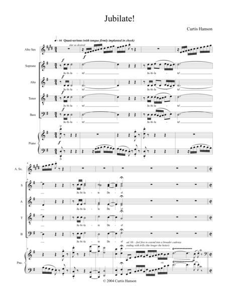 Jubilate! (SATB and alto sax)