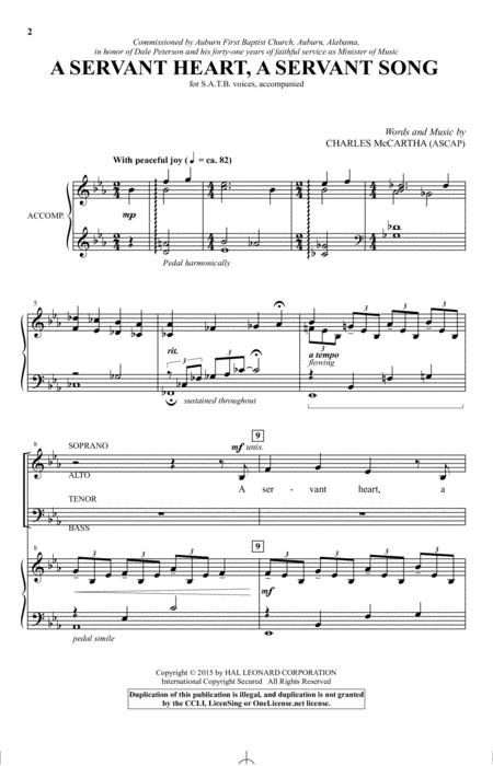 A Servant Heart, A Servant Song