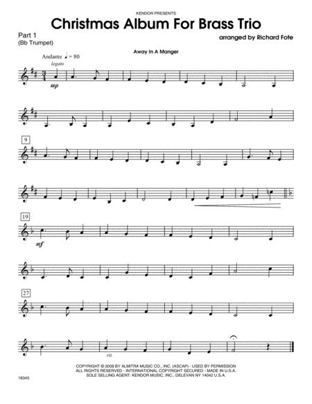 Christmas Album For Brass Trio - Part 1