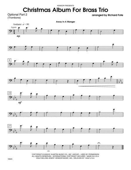 Christmas Album For Brass Trio - Part 2