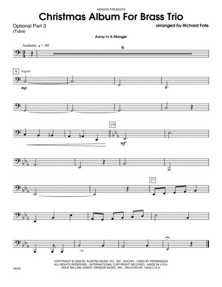 Christmas Album For Brass Trio - Part 3