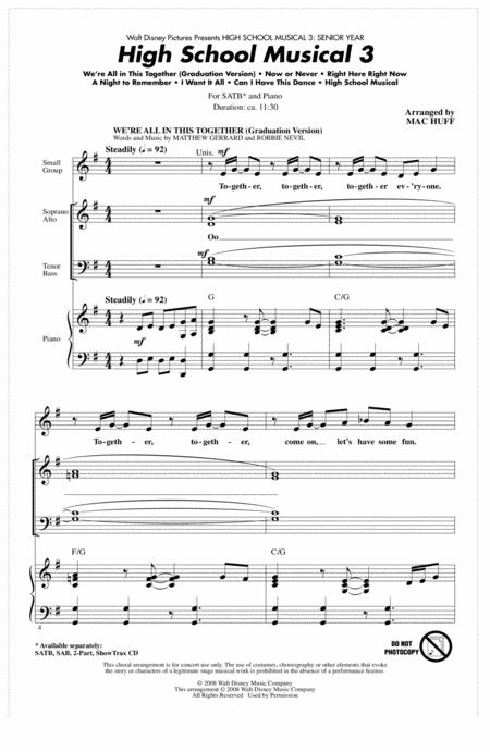 High School Musical 3 (Choral Medley)