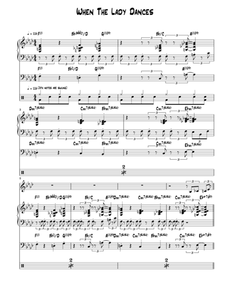 When The Lady Dances - Score and Parts