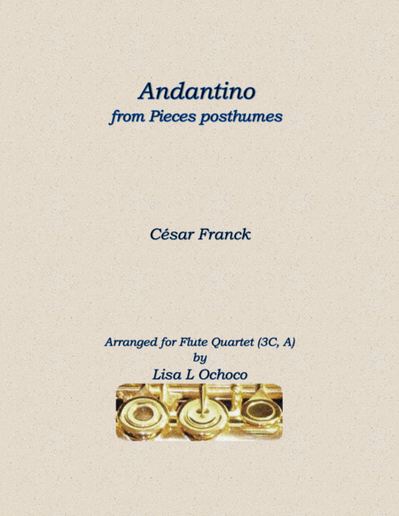 Andantino from Pieces posthumes for Flute Quartet